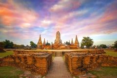 Wat Chaiwatthanaram temple in Ayuthay, Thailand Stock Photos