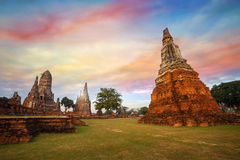 Wat Chaiwatthanaram temple in Ayuthaya Historical Park, a UNESCO world heritage site Royalty Free Stock Photos