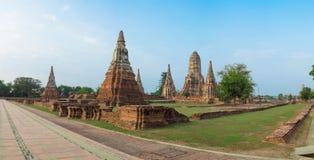 Wat Chaiwatthanaram Temple of Ayutthaya Province. Landmark Histo. Rical Park, Thailand Royalty Free Stock Photography