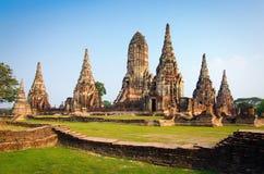 Wat Chaiwatthanaram Temple Ayutthaya, Thaïlande Photographie stock libre de droits