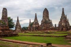 Wat Chaiwatthanaram temple Stock Photography