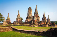 Wat Chaiwatthanaram Temple Ayutthaya, Thailand Royalty Free Stock Photography