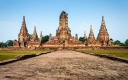 Wat Chaiwatthanaram Temple at Ayutthaya, Thailand Stock Photo