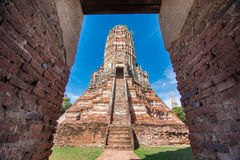 Wat Chaiwatthanaram temple in Ayutthya. Wat Chaiwatthanaram temple in Ayutthaya, Thailand Royalty Free Stock Photos