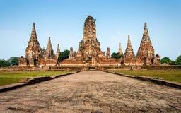 Wat Chaiwatthanaram Temple em Ayutthaya, Tailândia Foto de Stock