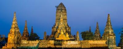 Wat Chaiwatthanaram Temple em Ayutthaya, Tailândia Fotografia de Stock