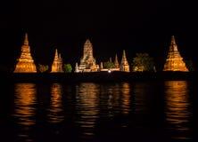 Wat Chaiwatthanaram temple Royalty Free Stock Photos