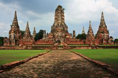 Wat Chaiwatthanaram, Thailand Lizenzfreie Stockfotos