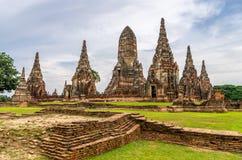 Wat Chaiwatthanaram w mieście Ayutthaya, Tajlandia. Ja jest dalej Obrazy Stock
