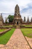 Wat Chaiwatthanaram w mieście Ayutthaya, Tajlandia. Ja jest dalej Zdjęcia Royalty Free