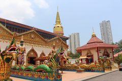 Wat Chaiya Mangalaram Thai Buddhist Temple Georgetown Penang Malaysia Stock Photo