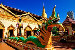 Wat Chaiya Mangkalaram Στοκ Εικόνα