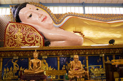Wat Chaiya Mangkalaram. Is a Thai Buddhist temple in George Town, Penang, Malaysia, most notable for its Reclining Buddha statue. The statue is the 3rd largest Royalty Free Stock Images