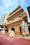 Wat Chaiyamangalaram Thai Buddhist Temple Penang Malaysia Royaltyfria Bilder