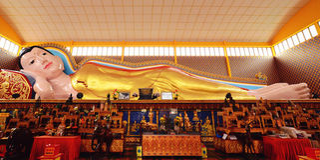 Wat Chaiyamangalaram Thai Buddhist Temple,Penang Malaysia Royalty Free Stock Photography