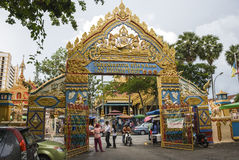 Wat Chaiyamangalaram Thai Buddhist Temple, Penang, Malaysia Royalty Free Stock Photography