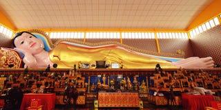 Wat Chaiyamangalaram Thai Buddhist Temple, Penang Malesia fotografia stock libera da diritti