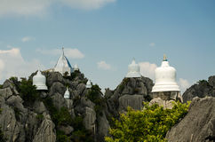 Wat Chalermprakiat alla provincia di Lampang, Tailandia Fotografia Stock Libera da Diritti