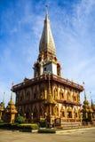 Wat Chalong寺庙在普吉岛 库存照片