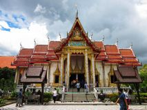 Wat Chalong寺庙普吉岛 免版税库存图片