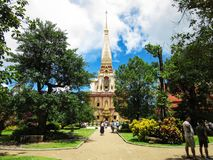 Wat Chalong寺庙普吉岛 库存图片
