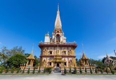 Wat Chalong, Пхукет, Таиланд Стоковое фото RF