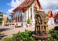 Wat Chalong самый красивый буддийский висок Кингдом Оф Тюаиланд стоковое фото