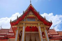 Wat Chalong Chaithararam Phuket Biggest-Tempel stockbilder