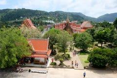 Wat Chalong Chaithararam Phuket Biggest-Tempel stockfoto