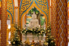 Wat Chalong Chaithararam Phuket Biggest temple royalty free stock photography