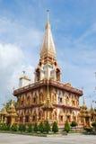 Wat Chalong jest znacząco świątynią Phuket Tajlandia obrazy stock