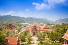 Wat Chalong, the most important temple in Phuket Royalty Free Stock Photo