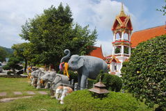 Wat Chalong is the most important temple of Phuket Thailand. Wat Chalong is the most important temple of Phuket Stock Photo