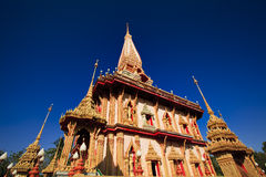 Wat Chalong Temple in Phuket Stock Images