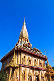 Wat Chalong in Phuket Royalty Free Stock Photo
