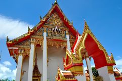 Wat Chalong Phuket Thailand arkivbild