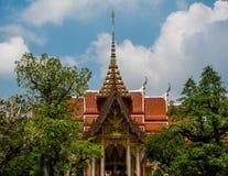 Wat Chalong Phuket, Thailand arkivbilder