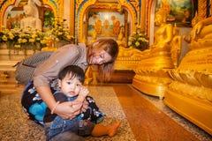 Wat Chalong, secteur de Mueang Phuket, Phuket Photos libres de droits