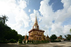 Wat Chalong Tempel Stockbild