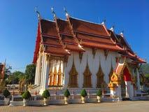 Wat Chalong-Tempel, Phuket stockfoto