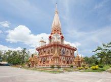 Wat Chalong tempel Phuket Arkivbild