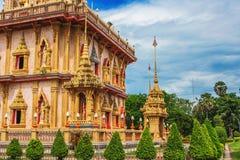 Wat Chalong Temple Complex à Phuket, Thaïlande Photo libre de droits