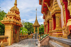 Wat Chalong Temple Complex à Phuket, Thaïlande Photo stock