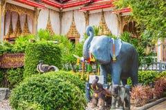 Wat Chalong Temple Complex à Phuket, Thaïlande Image libre de droits