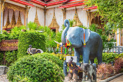 Wat Chalong Temple Complex in Phuket, Thailand Royalty-vrije Stock Afbeelding