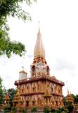 Wat Chalong Temple In Phuket Thailand Stock Photos