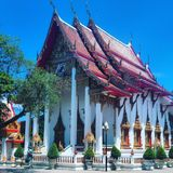 The Wat Chalong temple Royalty Free Stock Photography