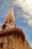 Wat Chalong Temple in Phuket, Royalty Free Stock Photo