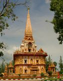 Wat Chalong Temple in Phuket, Royalty Free Stock Images