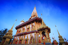 Wat Chalong Temple in Phuket Royalty Free Stock Photo